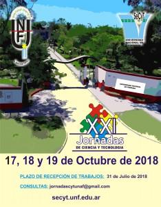 Afiche JCyT 2018.
